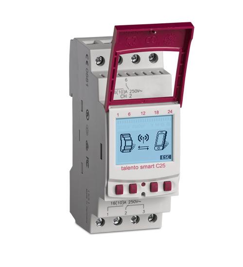 Digitale Zeitschaltuhr DIN-Schiene/Wochenprogramm talento smart C25 24 V