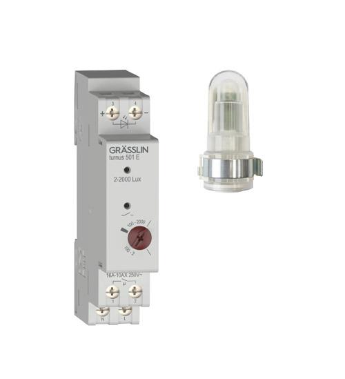 Analoger Dämmerungsschalter turnus 501 A mit Aufbau-Lichtsensor