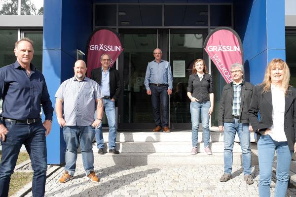 Gruppenbild Grässlin Vertriebspartnermeeting am 30. März 2021